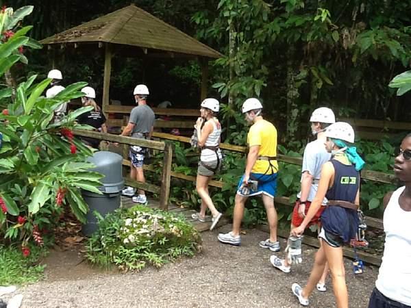 Zipline at YS Falls Jamaica