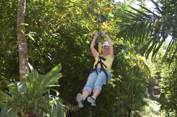 Zipline at YS Falls - Big Ship Tours Jamaica